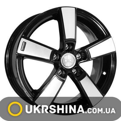 Литые диски КиК Кон-Тики W6 R15 PCD5x100 ET45 DIA67.1 алмаз черный