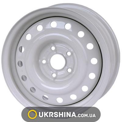 Стальные диски Кременчуг ГАЗ 3110 W6.5 R15 PCD5x108 ET45 DIA58 белый