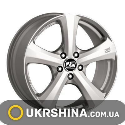 Литые диски MSW 19 W8 R18 PCD5x130 ET43 DIA71.6 silver