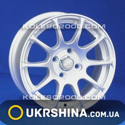 Литые диски JT 2024 silver W6 R14 PCD4x100 ET38 DIA67.1