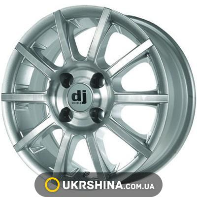 Литые диски DJ 386 W6 R14 PCD4x98 ET35 DIA67.1 silver