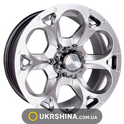 Литые диски Racing Wheels H-276 BK-F/P W7 R15 PCD5x139.7 ET13 DIA108.2