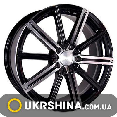 Литые диски Racing Wheels H-385 BKFP W7 R17 PCD5x112 ET35 DIA73.1