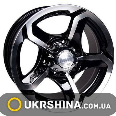 Литые диски Racing Wheels H-409 W7 R15 PCD6x139.7 ET0 DIA110.5 BK-F/P