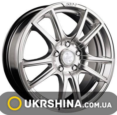 Литые диски Racing Wheels H-411 W6 R14 PCD4x98 ET38 DIA58.6 BK-F/P