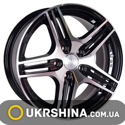 Литые диски Racing Wheels H-414 BK-F/P W7 R16 PCD5x100 ET40 DIA73.1