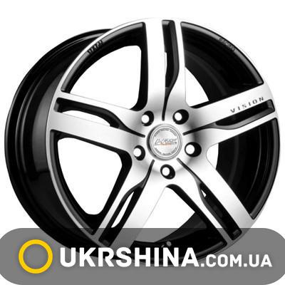 Литые диски Racing Wheels H-459 W6 R14 PCD4x100 ET38 DIA67.1 BK-F/P