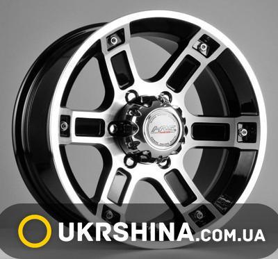 Литые диски Racing Wheels H-468 BK-FP W8 R16 PCD6x139.7 ET10 DIA110.5