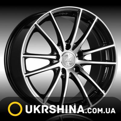Литые диски Racing Wheels H-498 BK-F/P W8 R18 PCD5x114.3 ET38 DIA67.1