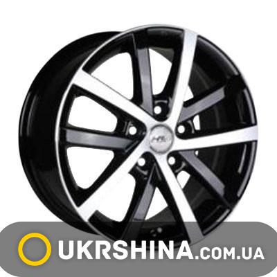 Литые диски Racing Wheels H-565 BK-F/P W7 R16 PCD5x100 ET40 DIA73.1