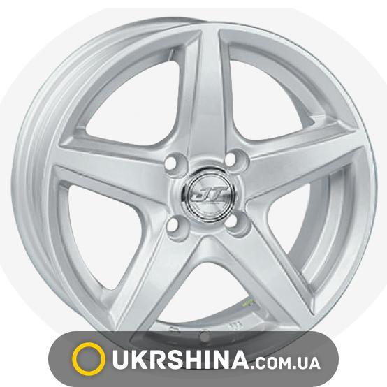 Литые диски JT 244 W6 R14 PCD4x108 ET35 DIA67.1 silver