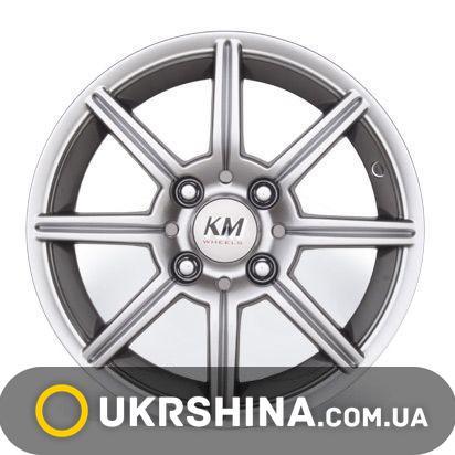 Литые диски Kormetal KM 393 Action silver W5.5 R13 PCD4x100 ET28 DIA67.1