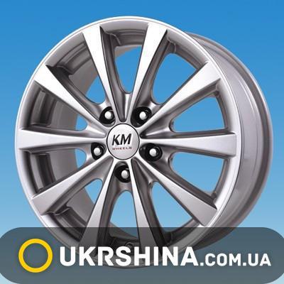 Литые диски Kormetal KM 775 Mirage silver W6.5 R15 PCD5x100 ET37 DIA67.1