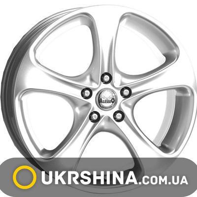 Литые диски Alessio MonteCarlo silver W7 R16 PCD5x110 ET38 DIA69
