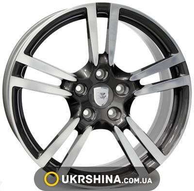 Литые диски WSP Italy Porsche (W1054) Saturn W10 R19 PCD5x130 ET61 DIA71.6 anthracite polished