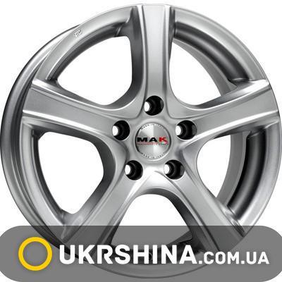 Литые диски Mak Scorpio W6.5 R16 PCD5x100 ET48 DIA56.1 silver