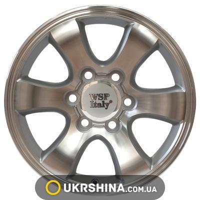 Литые диски WSP Italy Toyota (W1707) Yokohama Prado W7 R16 PCD6x139.7 ET10 DIA106.1 silver polished