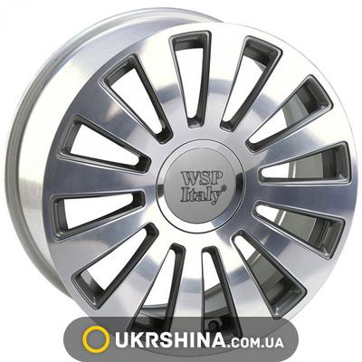Литые диски WSP Italy Audi (W535) A8 Ramses W8 R20 PCD5X100/112 ET45 DIA57.1 anthracite polished