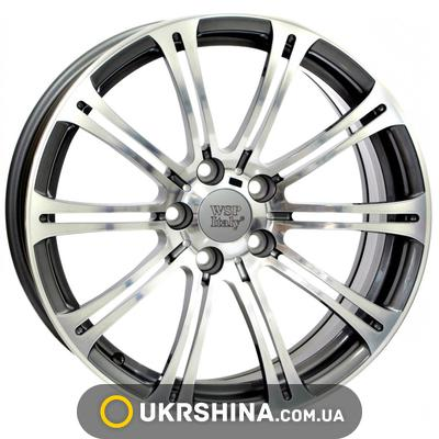Литые диски WSP Italy BMW (W670) M3 Luxor W8 R18 PCD5x120 ET15 DIA72.6 anthracite polished