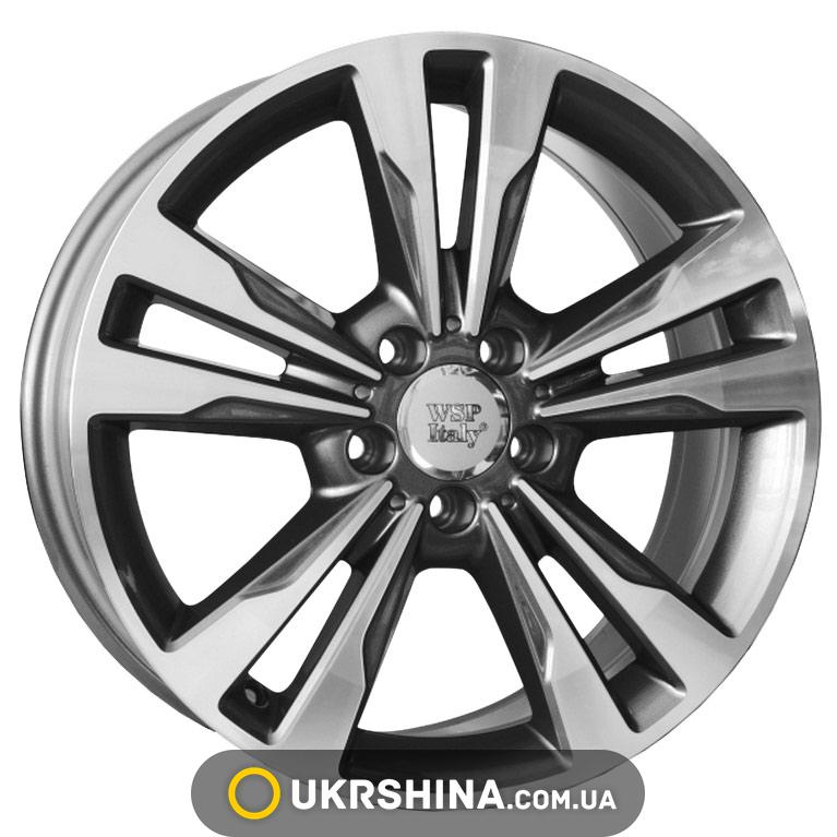 Литые диски WSP Italy Mercedes (W772) Apollo W8 R17 PCD5x112 ET48 DIA66.6 anthracite polished