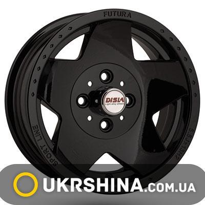 Литые диски Disla 312 W5.5 R13 PCD4x98 ET5 DIA58.6 black