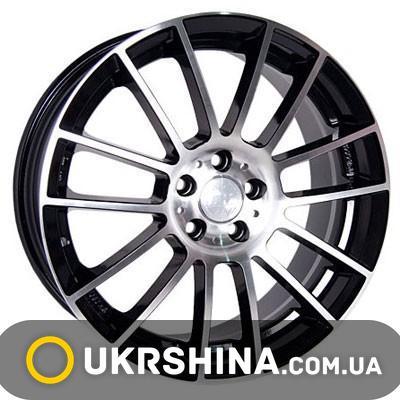 Литые диски Racing Wheels H-408 W6.5 R15 PCD5x112 ET38 DIA66.6 BK-F/P