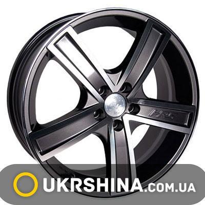 Литые диски Racing Wheels H-412 W6 R14 PCD4x98 ET20 DIA58.6 BK-F/P