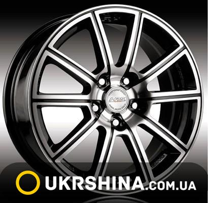 Литые диски Racing Wheels H-423 W7 R16 PCD4x108 ET40 DIA67.1 BK-F/P