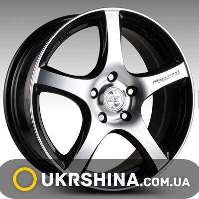 Литые диски Racing Wheels H-531 W7 R16 PCD4x114.3 ET40 DIA67.1 BK-F/P
