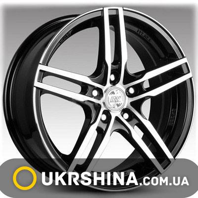 Литые диски Racing Wheels H-534 BK-F/P W6.5 R15 PCD4x114.3 ET40 DIA67.1