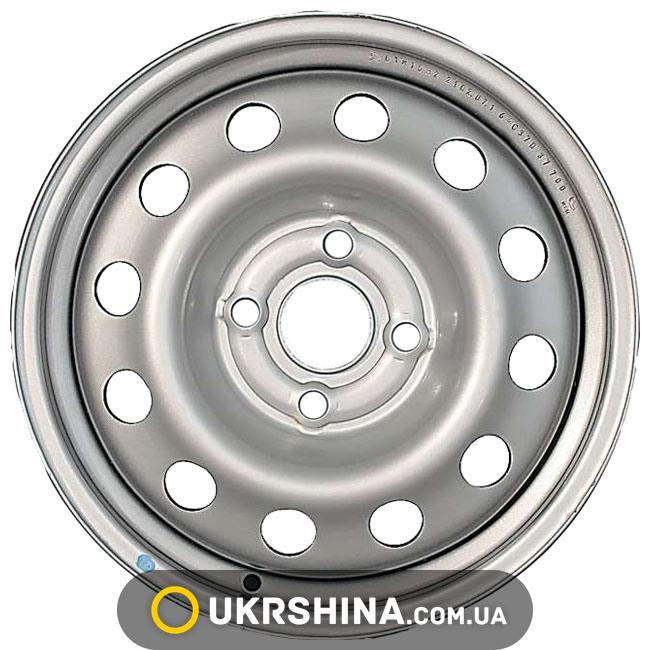Стальные диски Евродиск 52A36C W5.5 R13 PCD4x100 ET36 DIA60.1 silver
