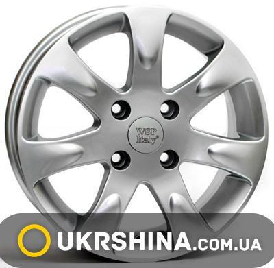 Литые диски WSP Italy Kia (W3702) Aida W6 R15 PCD4x100 ET43 DIA56.1 silver