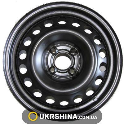 Стальные диски Кременчуг Daewoo W5.5 R14 PCD4x100 ET49 DIA56.6 black