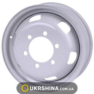 Стальные диски Кременчуг ГАЗ 3302 (Газель) W5.5 R16 PCD6x170 ET105 DIA130 белый