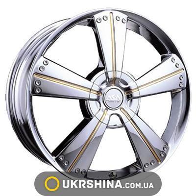 Литые диски ASA LS2 W7 R15 PCD5x100 ET35 DIA73.1 silver