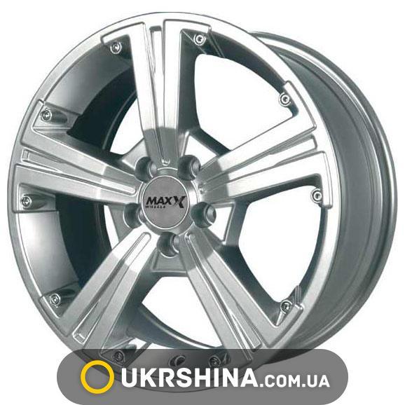 Литые диски Maxx Wheels M393 W5.5 R13 PCD4x100 ET20 DIA67.1 silver