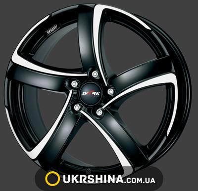 Литые диски Alutec Shark W8.5 R20 PCD5x112 ET70 DIA70 racing black front polished