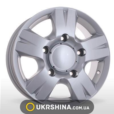 Литые диски Storm W-604 silver W6.5 R16 PCD5x130 ET55 DIA78.1