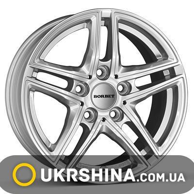 Литые диски Borbet XR серебро W7 R16 PCD5x120 ET31 DIA72.6